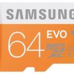 Samsung Speicherkarte MicroSDXC 64GB GB EVO UHS-I Grade 1 Class 10