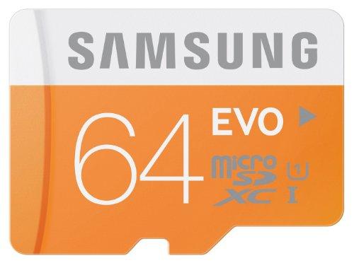 Samsung – MicroSDXC 64 GB EVO UHS-I Grade 1 (Class 10), mit SD Adapter