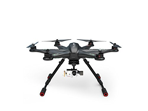 XINTE Walkera TALI H500 FPV Drone Hexacopter RTF mit DEVO F12E Batterie G-3D-Gimbal Ladegerät ILOOK + Full Set (Dark Grey)