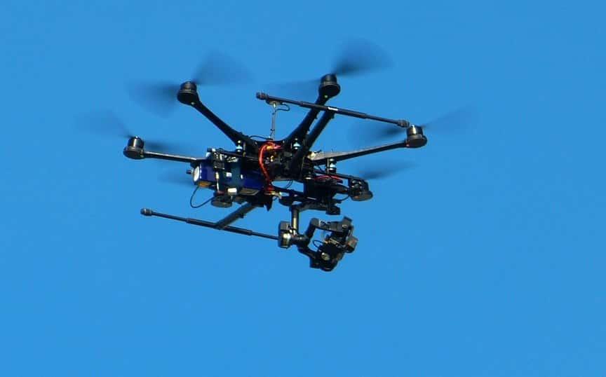 Professionelle Drohne
