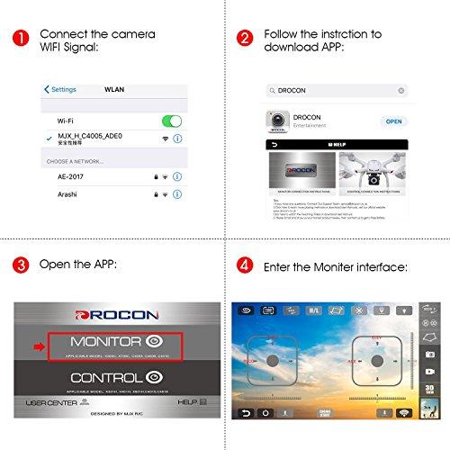 Drocon X708W Smartphone App Live-Bild