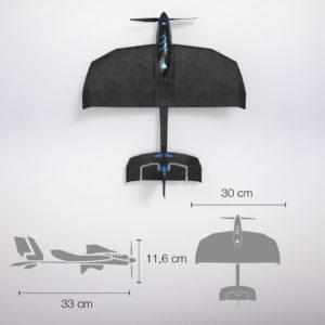 TobyRich-SmartPlane Pro FPV Größe Abmessungen