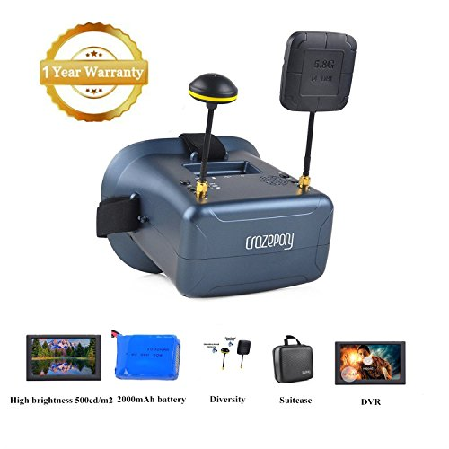 Crazepony-UK FPV Goggles VR008 Pro