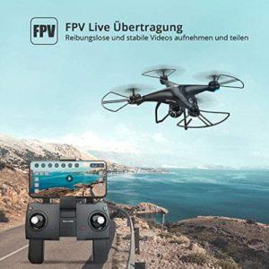 Holy Stone HS120: FPV-Livebildübertragung auf das Smartphone.