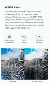 Xiaomi FIMI X8 Mini - 4K-HDR-Kamera